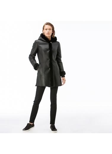 Lacoste Kadın Kürk Detaylı Mont BF1430.30S Siyah
